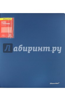 Папка с 10 файлами Silwehof Perlen. А4. Синяя (291910-74) папка с 20 файлами а4 comix geography st petersburg