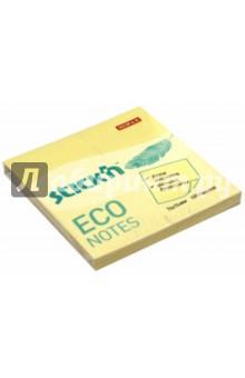 """Блок для записей самоклеящийся """"Eco"""" (100 листов, 76x76 мм, пастельно-желтый) (21745)"""