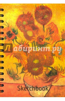 Скетчбук, 100 листов, А5 Ван Гог. Подсолнухи (01771) блокнот в пластиковой обложке ван гог звёздная ночь формат а5 160 стр