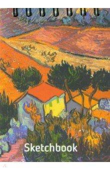 """Скетчбук, 100 листов, А6 """"Ван Гог. Пейзаж с домом и пахарем"""" (01689)"""