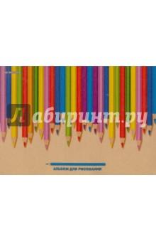 Альбом для рисования Разноцветные карандаши (40 листов, склейка) (АЛ401620) академия групп альбом для рисования 40 листов monster high