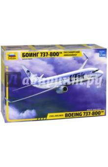 Купить Пассажирский авиалайнер Боинг 737-800 1/144 (7019), Звезда, Пластиковые модели: Авиатехника (1:144)