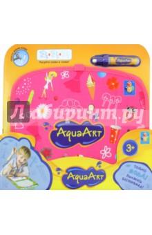 Коврик AquaArt для рисования водой (розовый, чемоданчик) (Т10157) сумка для коврика венера 16 см 70 см розовый