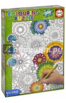 Купить Пазл-раскраска Цветы (300 деталей) (17090), Educa, Пазлы (200-360 элементов)