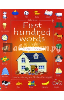 First hundred words in English. Sticker Book free shipping best picture books for children 100 first english words sticker book