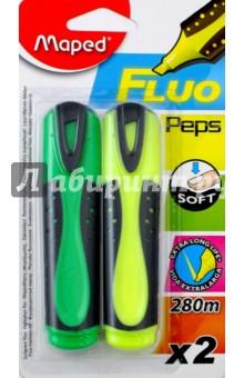 Текстовыделители, 2 цвета FLUO PEP'S SOFT (742663) MAPED