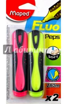 Текстовыделители, 2 цвета FLUO PEP'S SOFT (742666) MAPED