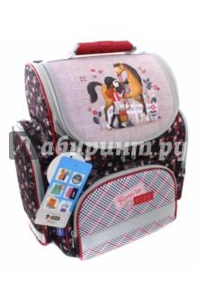 Купить Ранец ортопедический Моя лошадка (38х34х21 см) (1731H) (226093), TIGER FAMILY, Ранцы и рюкзаки для начальной школы