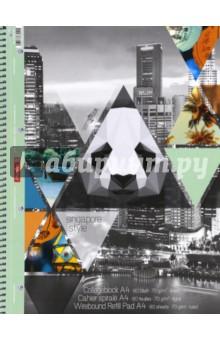 Тетрадь общая Город (80 листов, А4, линейка, на гребне)