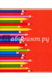 """Тетрадь 48 листов, клетка """"Цветные карандаши"""", 5 видов (ТКЛ485388) Эксмо-Канц"""