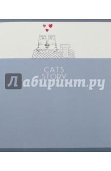 """Тетрадь 48 листов, клетка """"Кошачьи истории"""", 5 видов (ТКФЛ485378) Эксмо-Канц"""