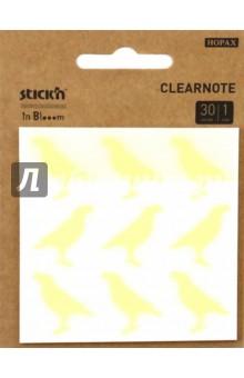 Блок для записей самоклеящийся пластиковый in Blooom (30 листов, 73x73 мм) (28035) блок самоклеящийся бумажный hopax 27061