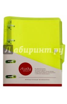 """Тетрадь """"Neon"""" (120 листов, на кольцах) (N857/light-green) Доминанта"""