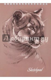 Скетчпад (альбом для эскизов) Животные (60 листов, гребень) (45024) гребни bizon гребень диадема заколка