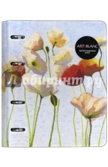 Тетрадь со сменным блоком Fleur, 120 листов, на кольцах. А5. Клетка (N514).