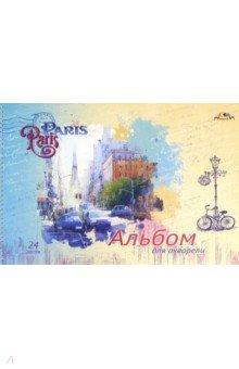 Блокнот для акварели на спирали Париж. 24 листа. А3 (С3216-01)