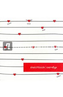 Альбом для рисования Hearts (40 листов, 170х170 мм) (N1021) академия групп альбом для рисования 40 листов monster high
