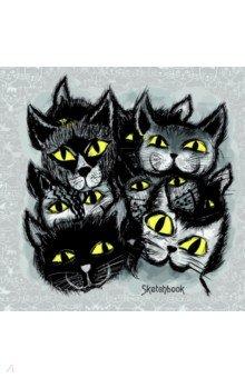 Скетчбук Черные коты (80 листов, 195х195 мм, спираль) (ТС5804484) скетчбук цветные мишки 80 листов 195х195 мм спираль тс5804483