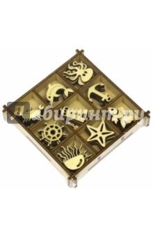 Zakazat.ru: Морской Набор украшений в коробке 10,5х10,5.