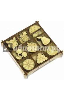 Фрукты Набор украшений в коробке 10,5х10,5 favourite 1623 1p