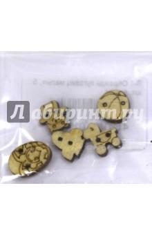 Zakazat.ru: П-1 Образцы пуговиц малых, 5 штук, комплект.