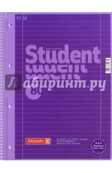 Тетрадь общая Фиолетовая (80 листов, А4, гребень, линейка)