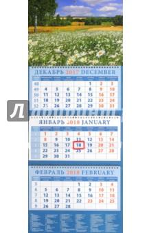 Zakazat.ru: Календарь квартальный на 2018 год Родные просторы (14856).