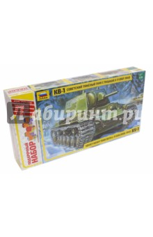 Купить Сборная модель Советский тяжелый танк КВ-1 модель 1940 г. (3624П), Звезда, Бронетехника и военные автомобили (1:35)