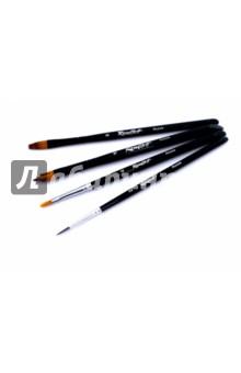 Набор кистей для творчества №2 (4 штуки) набор для творчества стразы рисинки 180шт 8мм черные в блистере