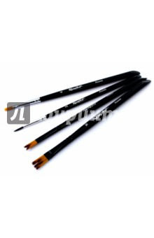 Набор кистей для творчества №4 (4 штуки) набор для творчества стразы рисинки 180шт 8мм черные в блистере