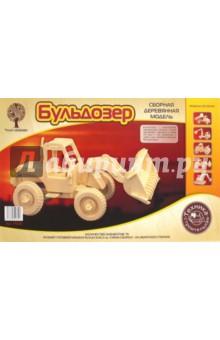Купить Сборная деревянная модель Бульдозер (P029), ВГА, Сборные 3D модели из дерева неокрашенные макси