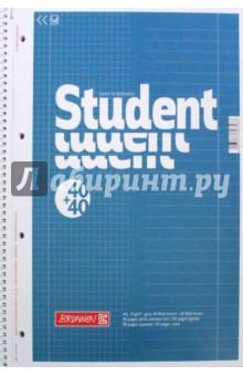 Тетрадь общая Колледж (80 листов, А4, гребень, клетка + линия) (10-67 974).