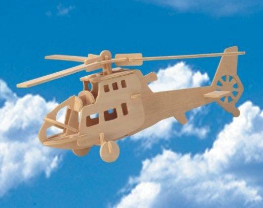 """Иллюстрация 1 из 4 для Сборная деревянная модель """"Боевой вертолет"""" (P007)   Лабиринт - игрушки. Источник: Лабиринт"""