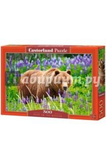 Puzzle-500 Медведь на лугу (B-52677) puzzle 500 замок словакия в 51489