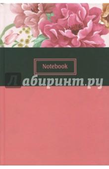 Записная книжка, 128 листов, А5+, РОЗОВЫЕ ПИОНЫ, (45619) записная книжка artefly а5 линейка петропавловская крепость черная afnc r3sp1 bk