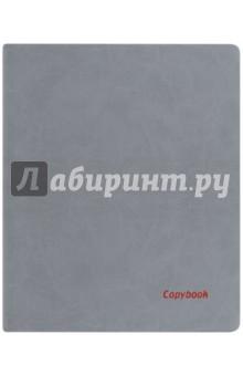 Тетрадь 80 листов, А4, мягкая, ГРАФИТОВЫЙ+КРАСНЫЙ СРЕЗ, (45359)