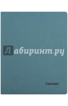 Тетрадь 80 листов, А4, мягкая, БИРЮЗОВЫЙ+КОРИЧНЕВЫЙ СРЕЗ, (45365)