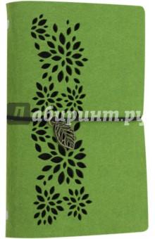 Записная книжка 80 листов, А6+, САЛАТОВЫЙ, фетр (45374) феникс записная книжка ноутбук фламинго 80 листов