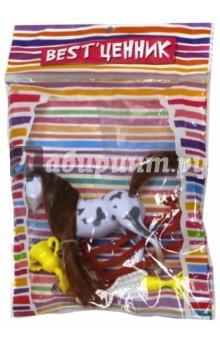 Лошадка с аксессуарами в пакете (100798976) каталка мотоцикл s s toys bambini со звуком разноцветный от 3 лет пластик