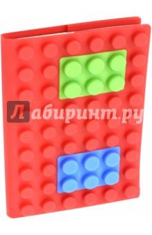 Блокнот 100 листов, А6, силиконовый чехол (М-3577-R) от Лабиринт