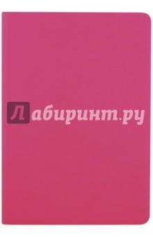 Ежедневник недатированный,136 листов, А5, НЕОН-РОЗОВЫЙ, мягкий, (45279)