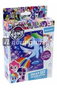 Пазл My little pony. Радуга (90 элементов) (03401) happy loom набор для творчества цветные резиночки в коробке 01786