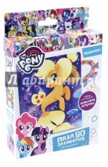 Пазл My little pony. Эпплджек (90 элементов) (03412) набор для детского творчества набор д вышивания гладью my little pony