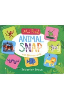 Animal Snap. With 20 snap cards! pretty animal postcards 25 cards to colour and send