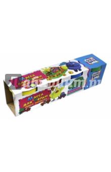Масса для лепки (4 цвета, 300 гр) (67852) масса для лепки candy clay набор круассан