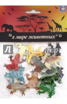 Игровой набор Лягушки (12 штук, 5 см) (Т50502) homephilosophy декоративные фигурки лягушек bever набор из 3 х шт