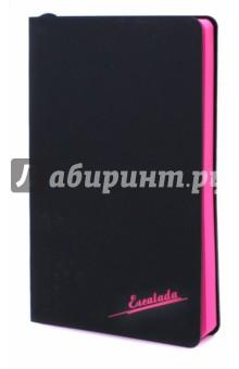 Ежедневник недатированный Черный, розовый блок (96 листов, А5) (45308)