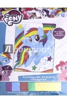 Аппликация из фольги My little pony. Радуга (03187) hasbro play doh игровой набор из 3 цветов цвета в ассортименте с 2 лет