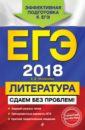 Обложка ЕГЭ-2018. Литература. Сдаем без проблем!