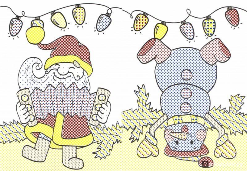 Иллюстрация 1 из 11 для Новогодний хоровод. Книжка-раскраска | Лабиринт - книги. Источник: Лабиринт